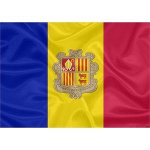 Bandeira Estampada Andorra