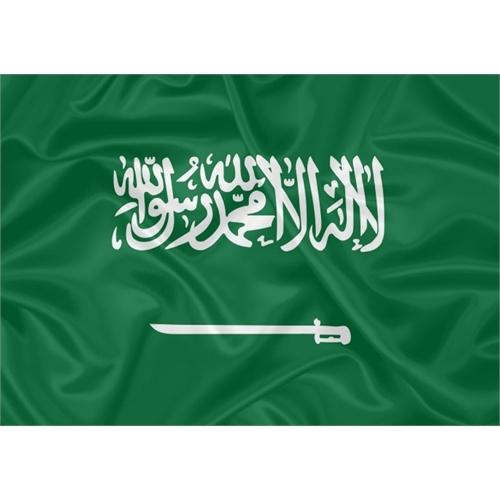 Bandeira Estampada Arábia Saudita