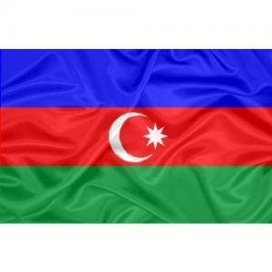 Bandeira Estampada Azerbaijão