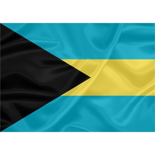 Bandeira Estampada Bahamas