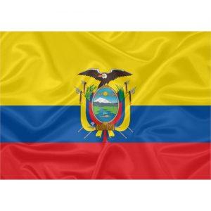 Bandeira Estampada Equador