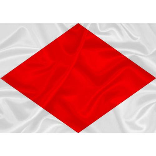 Bandeira Náutica Foxtrot